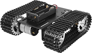 OTTFF Preassembled Robot Tank Chassis Track Compatible with Arduino Tank Aluminum Alloy Chassis Raspberry DIY STEM - Speed...
