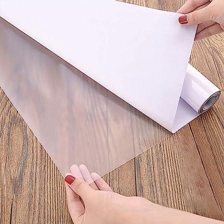 Papier Adhesif Pour Meuble Transparent 30×300cm Vynile Adhésif Film Papier Peint Autocollant Polyphane Transparent Rouleau Couvre Livre Adhesif Stickers Protéger les Murs et les Meubles de la Cuisine