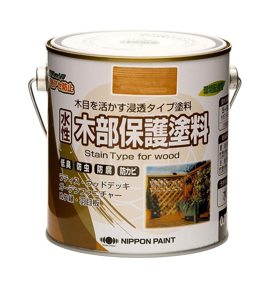 兵器庫男性マラウイニッペ 水性木部保護塗料 0.7L ウォルナット