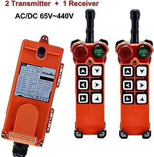 Overhead Crane F21-E1 Wireless Industrial Radio Remote Control Transmitter & Receiver 6 Single Step Push Buttons (AC/DC 65V-440V)
