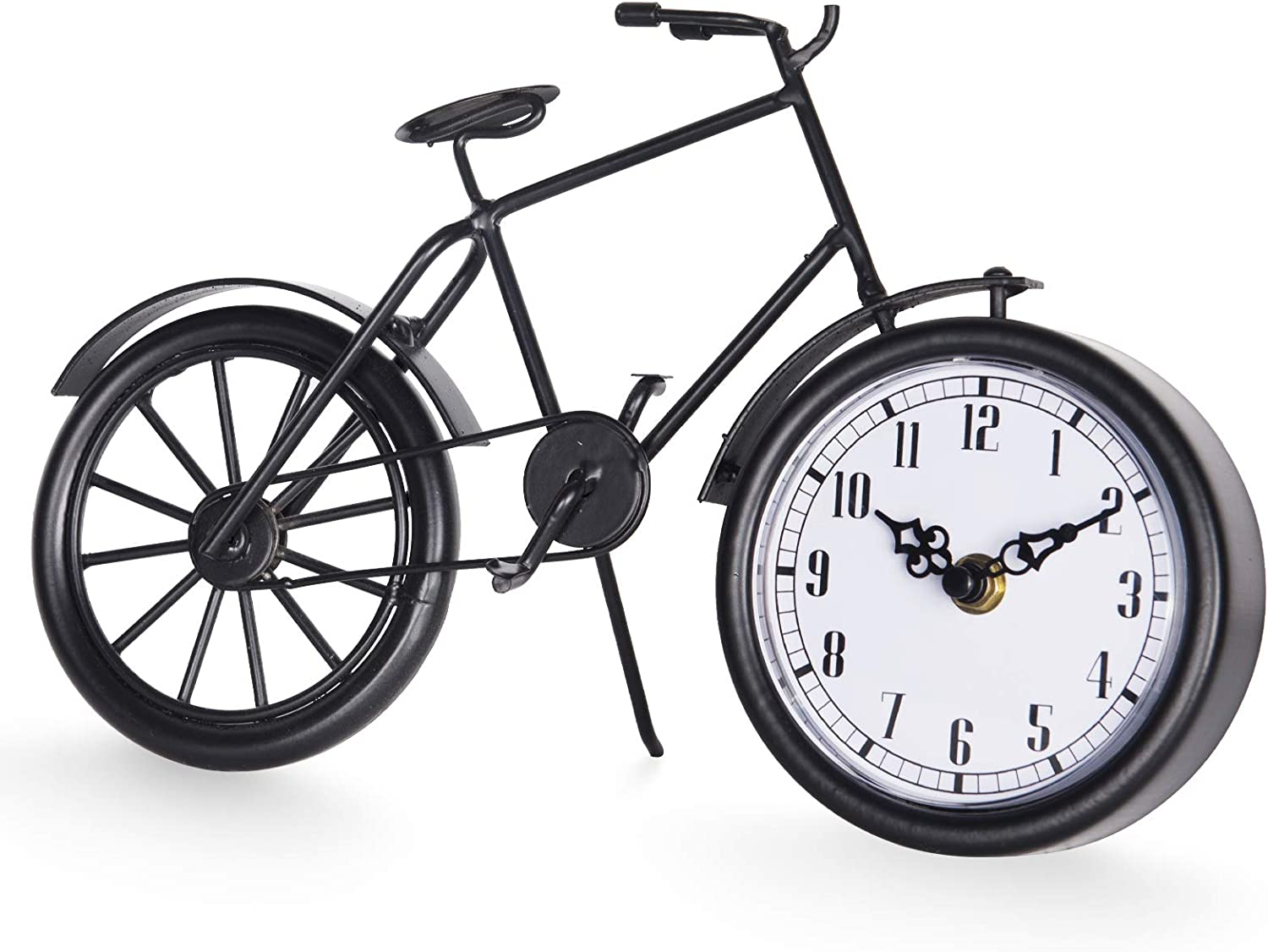 JUMBO DECOR Vintage Bicycle Table Clock New arrival Free shipping / New Stand on Black Meta Bike
