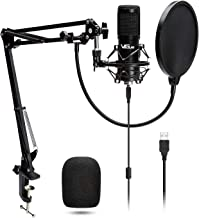 USB Microphone Kit 192KHZ/24BIT Plug & Play VG016 Condenser Computer Cardioid Mic with Professional Sound Chip Set Ideal for Podcast, Gaming, Recording, Stream, Voice Over