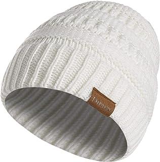 Diravo Winter Knit Wool Warm Hat Thick Soft Stretch Slouchy Beanie Skull Cap Unisex
