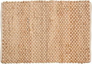 QMart International Cotton Blend Jute Rug 2x3 Home Décor Kitchen Living Room Décor Area Rugs for Entryway Bedroom Woven Rug