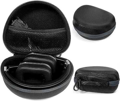 Foldable Headphone Case for Studio3, Studio2, Studio, Mpow 059/ Mpow H1/H2/H5/Thor, Audio-Technica ATH-M50x/M50/M70X/M40x/M30x/M20x, Bluedio Turbine T2s , T2 & T2, Black+Gray Zip