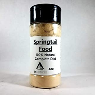 EZ Botanicals a Division of DBDPet's Springtail & Isopod Food - All Natural - 4oz Shaker Container - Feed Your Springtails The Best Food Possible! - 100% Natural Springtail Food Mix