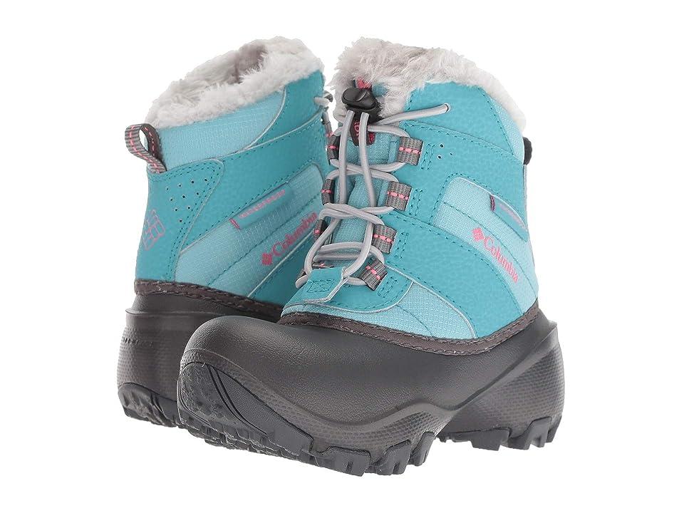 Columbia Kids Rope Towtm III Waterproof Boot (Toddler/Little Kid/Big Kid) (Iceberg/Camellia Rose) Girls Shoes
