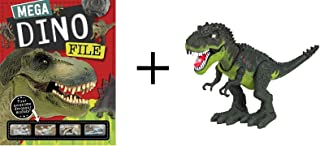 Mega Dino File Activity Set Plus Walking T-Rex Dinosaur with Realistic Sounds