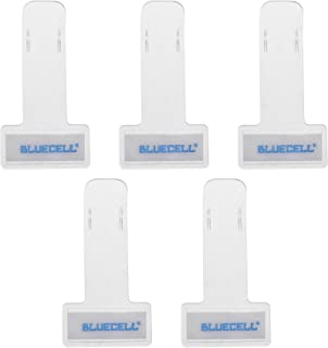 BCP Transparent Windshield Plastic Parking Ticket Holder Clip with Adhesive Tape -5 Packs