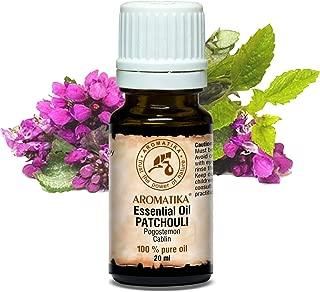 Patchouli Ätherisches Öl 20ml - Pogostemon Cablin - Indonesia - 100% Naturreines Patchouliöl - Guten für Aromatherapie - Entspannung - Aroma Diffuser - Duftlampe - von Aromatika