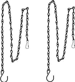 2 Pack 35 Inch Hanging Chain for Bird Feeders, Planters, Lanterns and Ornaments (Black)