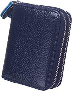 Wiwsi PU Leather Credit ID Card Coin Purse Key Case Pouch Holder Wallet Zipper