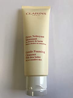 Clarins Gentle Foaming Cleanser With Shea Butter Dry/Sensitive Skin 4.4 oz