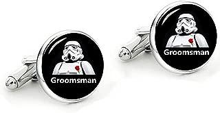 Classic Wedding Cufflinks Custom Personalized Wedding Cuff Links Jewelry Gift for Father Dad Groom Best Man Groomsman Bridesman