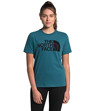 The North Face Half Dome Cotton Short Sleeve Tee (Mallard Blue/TNF Black) Women