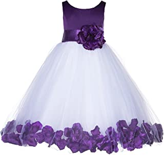 Floral Rose Petals Tulle Pageant Girl Dress Junior Special Occasion Gown 167S