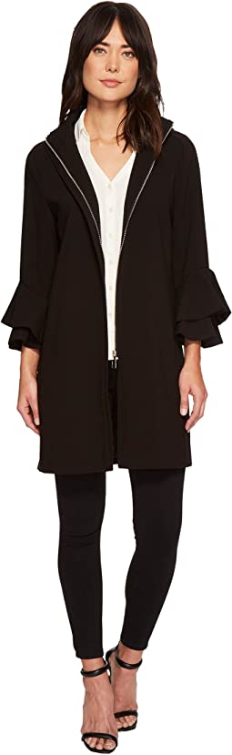 Ivanka Trump Softshell Flutter Sleeve Hooded Jacket