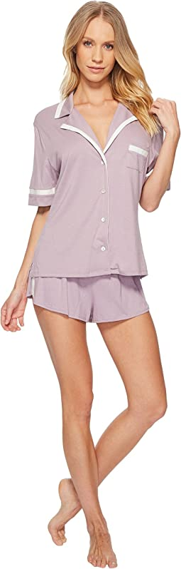 Bella Amore Short Sleeve Top Boxer PJ Set