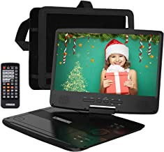 "HDJUNTUNKOR Portable DVD Player with 10.1"" HD Swivel Display Screen, 5 Hour.."