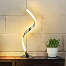 AlbrilloSpiralDesignLEDTableLamp- Touch SensorDimmableDeskLamp, Warm White 3000K Bedside Lamps of Stainless Steel, 1.5m Cable, 5W 450LM Nightstand Lamps, for Bedroom, Office, Living Room