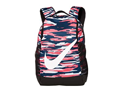 Nike Kids Brasilia (Little Kids/Big Kids) (Black/Watermelon/Black) Backpack Bags