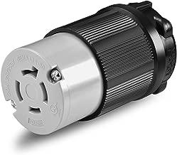 Aweking UL Listed NEMA L14-20C Plug Connector Socket Female,20A 20 Amp,AC 125V/250V 125 Volt/250 Volt,3 Pole-4 Wire,Grouding,Twist Locking,Black Gray