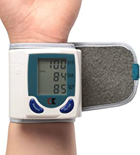 TeqHome Wrist Blood Pressure Monitor with Digital LCD Display Screen, Portable BP Machine Perfect for Health Monitoring