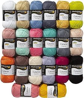 20 Skein SMC Catania Originals Yarn, 100% Cotton, Total 35.2 Oz Each 1.76 Oz (50g) / 136 Yrds (125m), Fine-Sport 2, Assorted Colors Yarn Version 2