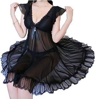 (ADOSSY) ベビードール セクシー ランジェリー 大きいサイズ レディース ナイトドレス