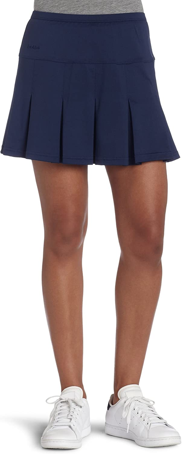 Bollé Women's Essential MultiPleat Tennis Skirt, Essential Navy, Large