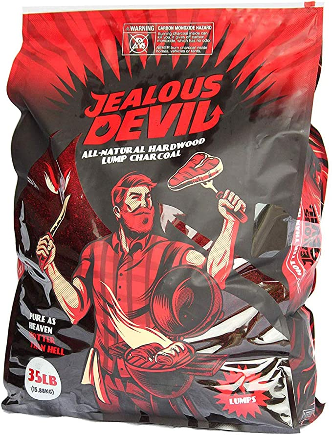 Jealous Devil All Natural Hardwood Lump Charcoal – Bets Lump Charcoal For Smoked Flavor