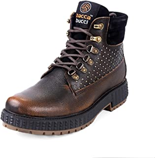 Bacca Bucci® Men's Storm Surge Water Resistant Oil Full Grain Leather Insualted/Rugged/Height Increaser Work Boots