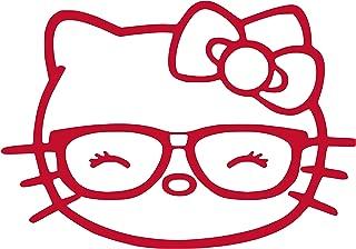 LeoPro Hello Kitty Head Glasses Vinyl Sticker Decal