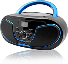LONPOO Portable CD Player Boombox FM Radio, Bluetooth MP3/CD Player with..