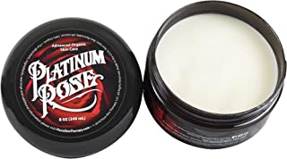 Platinum Rose Tattoo Butter for Before, During, and After the Tattoo Process - Advanced Organic Skin Care - Heals, Lubricates, Moisturizes and Repairs Skin 100% Natural and Organic Ingredients (8 oz)