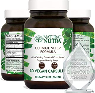 Natural Nutra Ultimate Sleep Formula, Natural, Herbal and Vegan Sleep Aid with L Theanine, GABA, Passion Flower, Chamomile...