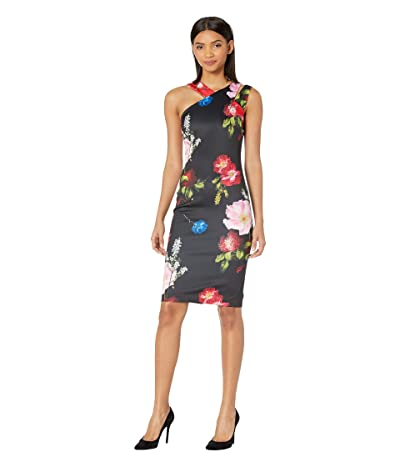 Ted Baker Polayo Berry Sundae Asymmetric Dress (Black) Women