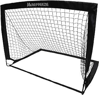 REFREEZE(リフリーズ) 選べる3カラー 折りたたみ サッカーゴール 1個 収納バッグ付き 室内 屋外兼用 ポータブル ポップアップ サッカー フットサル ゲーム 対戦 練習 トレーニング