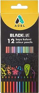 Adel Blackline Boya Kalemi 12 Renk, Tam Boy