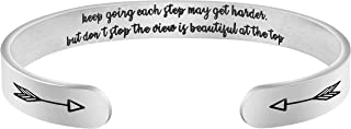 Motivational Quotes Mantra Hidden Message Wide Cuff Bangles Women Inspirational Bracelets Her
