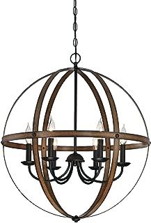 Westinghouse Lighting 6333600 Stella Mira Six-Light Indoor Chandelier, Barnwood and Oil Rubbed Bronze Finish (Renewed)