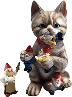 by Mark & Margot – Mischievous Cat Garden Gnome Statue Figurine – Best..