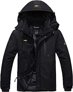 comprar comparacion Wantdo Chaqueta de Esquí de Montaña para Hombre Abrigo de Invierno Impermeable con Capucha Cazadora de Snowboard Cálida Ch...