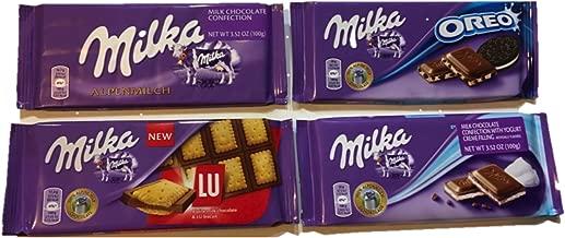 Milka Assorted Chocolates Variety Pack (Alpenmilch/Oreo/LU/Yoghurt)