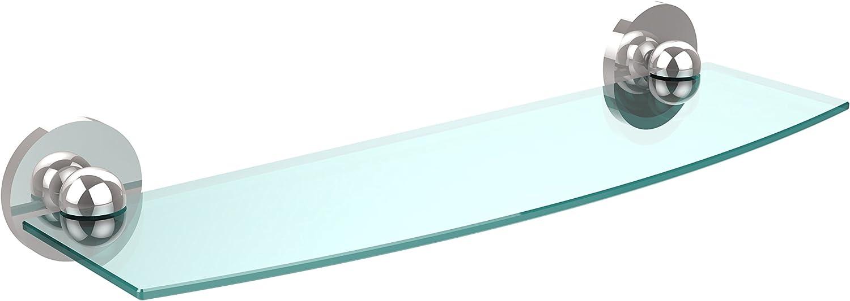 Allied Brass P1033 18-PC 18 X 5 Glass Shelf Polished Chrome