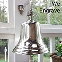 8 Inch Nickel Finish Ship Bell - with Engraving