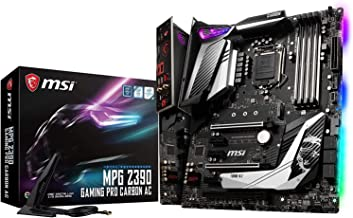 MSI MPG Z390 Gaming PRO Carbon AC LGA1151 (Intel 8th and 9th Gen) M.2 USB 3.1 Gen 2 DDR4 HDMI DP Wi-Fi SLI CFX ATX Z390 Ga...