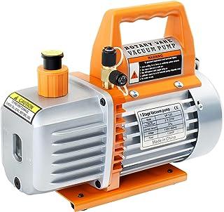 JIFETOR 3.5CFM Vacuum Pump Kit, 1/4HP 110V 60HZ 5Pa Single Stage Rotary Vane Vacuum Pump, Use for AC HVAC Automotive Air C...