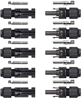 Sun YOBA 5 Pairs of MC4 Male/Female Solar Panel Cable Connectors