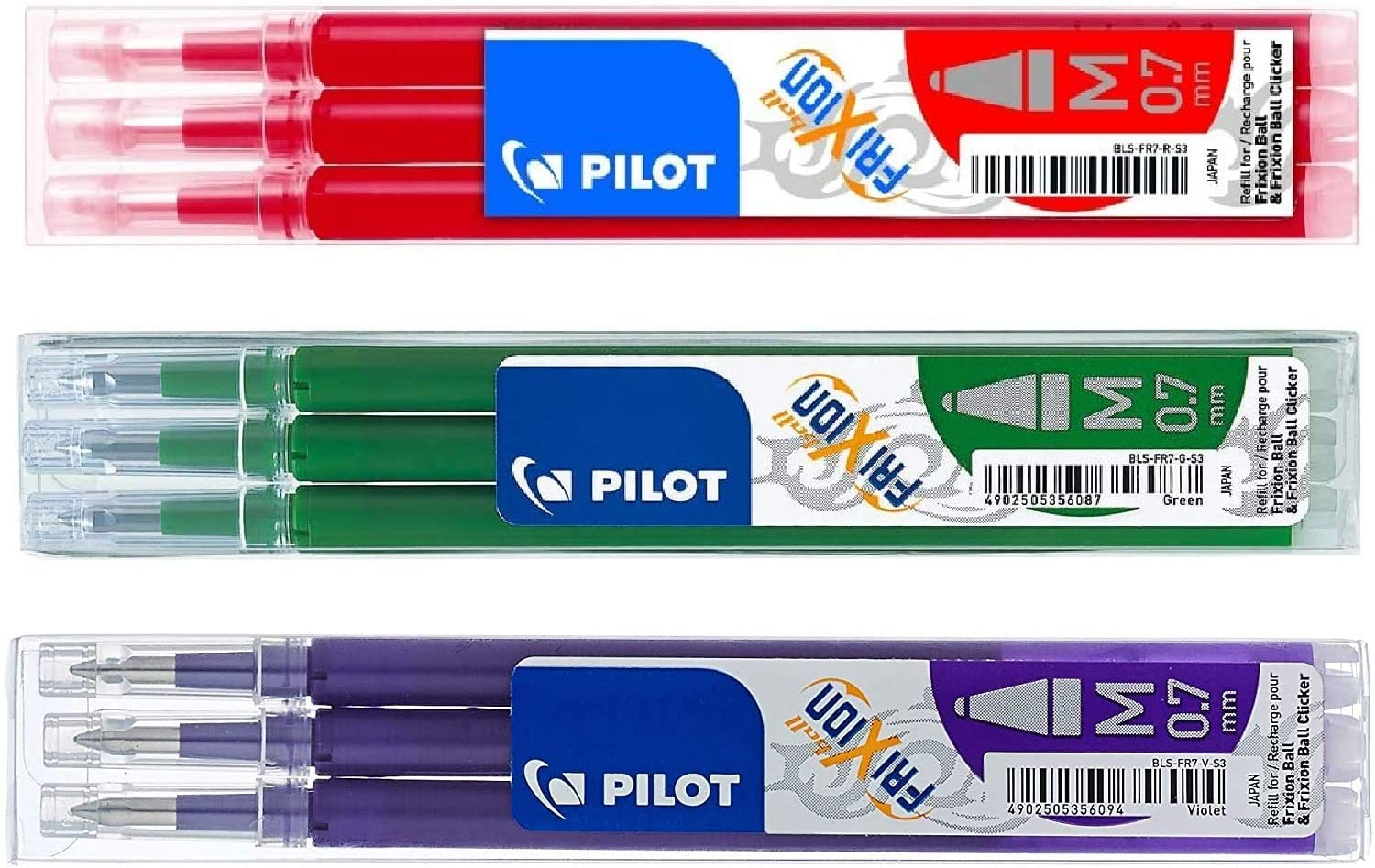 Pilot Frixion erasable pens refill Red Green bundle Free shipping on posting reviews 1 year warranty 9